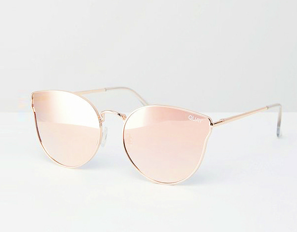 LIGHT PINK MIRROR SUNGLASSES